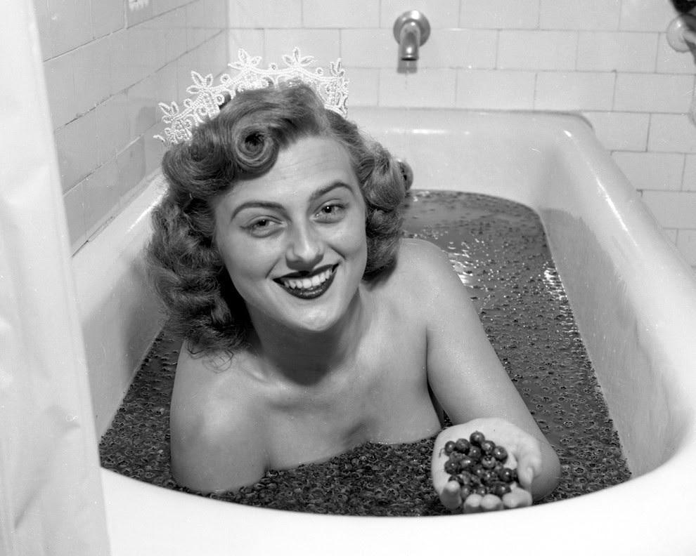 7. Королева Черники, 1957 конкурс, королева, красота