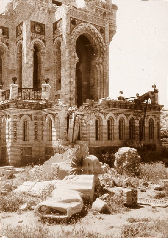 Monumento al Corazón de Jesús en Toledo destruido en 1936 durante la guerra civil