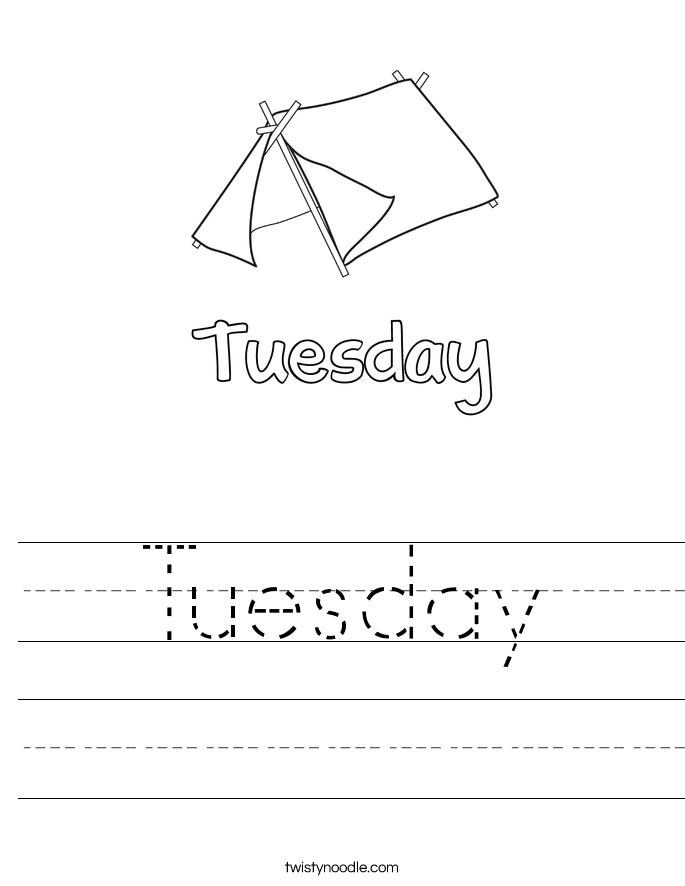 Tuesday Worksheet - Twisty Noodle