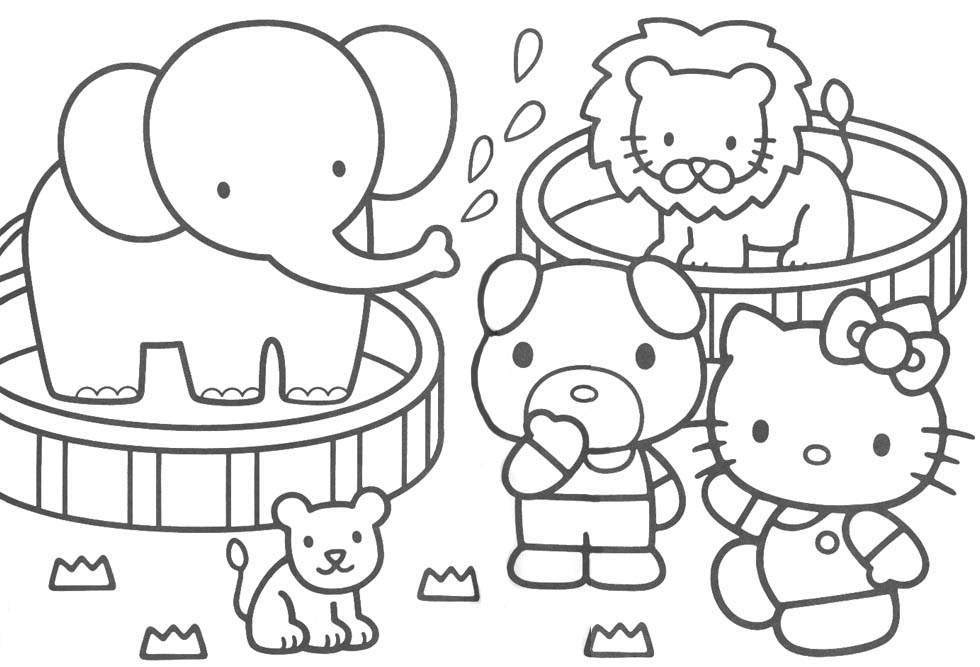 Hello Kitty Colouring Pages For Kids Coloring Home