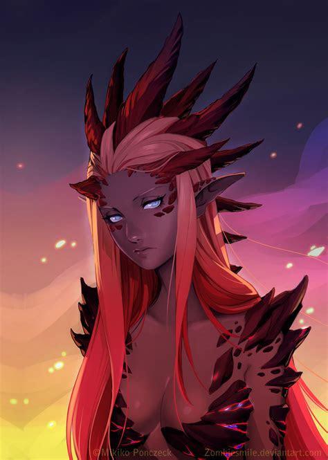 red dragon queen  mikiko ponczeck imaginarymonstergirls
