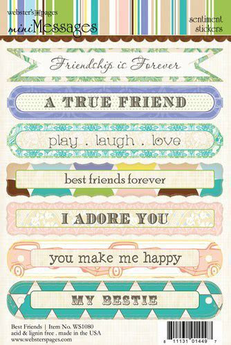 Websters Pages   Best Friends Collection   Cardstock