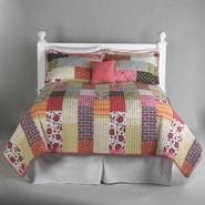 Essential Home Coral Boho Patchwork 5 Piece Quilt Set at Kmart.com