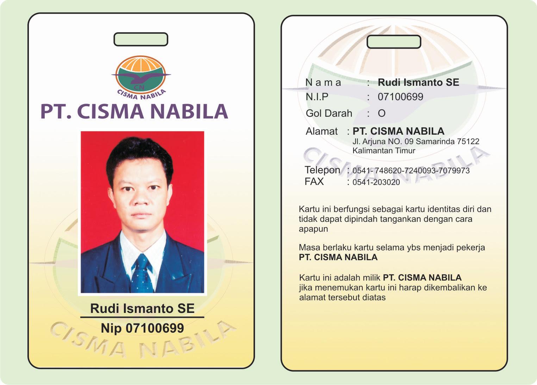 Contoh Id Card Karyawan Perusahaan - Contoh 43