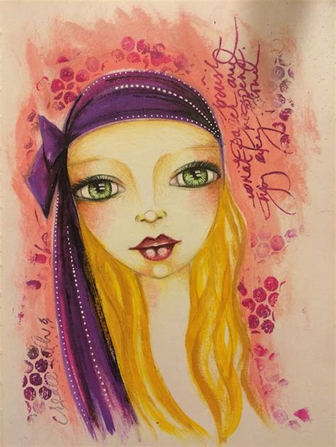 mixed media girls images  pinterest collage