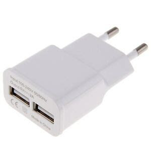 useu plug ac wall charger adapter   dual usb  port
