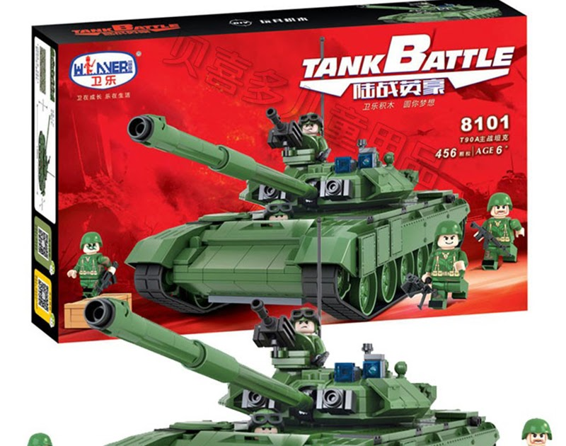 456pcs Military Army Tank T90A Building Blocks Bricks Toys Gift For Kids No Box