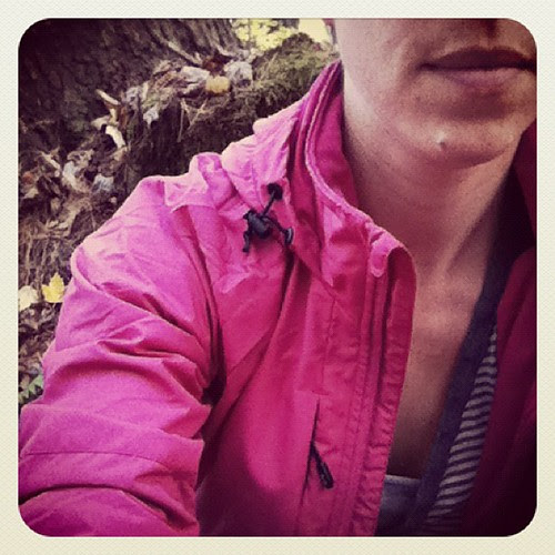 New bright pink jacket so I don't get confused for a deer or bear in the woods. #huntingseason #lifeintheboonies