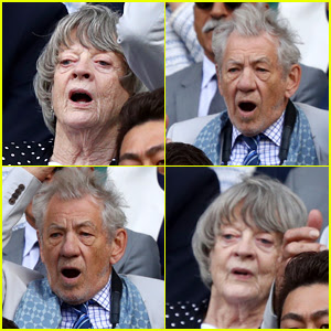 Maggie Smith & Ian McKellan Get Animated at Wimbledon!