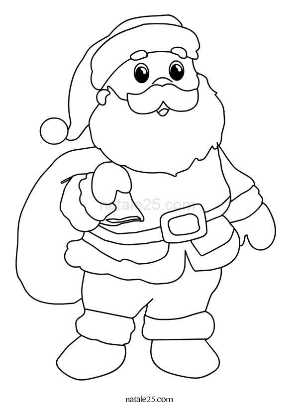 Babbo Natale Con Sacco Da Colorare Natale 25