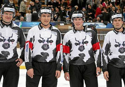 Spengler Cup Referee Cow Jersey 2013 photo SpenglerRefs2013.jpg