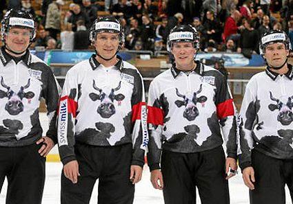 Spengler Cup Referee Cow Jersey 2013 photo SpenglerRefs2013.jpg