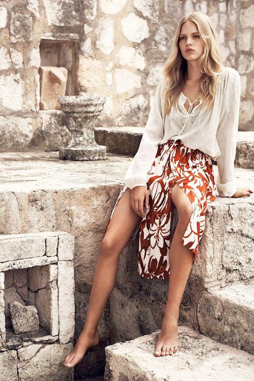 6 Le Fashion Blog Mango Summer 2015 Lookbook Anna Ewers Lace Up Embroidered Top Floral Print Slit Skirt photo 6-Le-Fashion-Blog-Mango-Summer-2015-Lookbook-Anna-Ewers-Lace-Up-Embroidered-Top-Floral-Print-Slit-Skirt.jpg