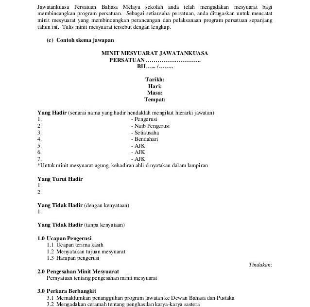 Contoh Soalan Objektif Bahasa Melayu Tingkatan 3 - Tersoal m