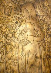 Evyngar memorial brass, 1533