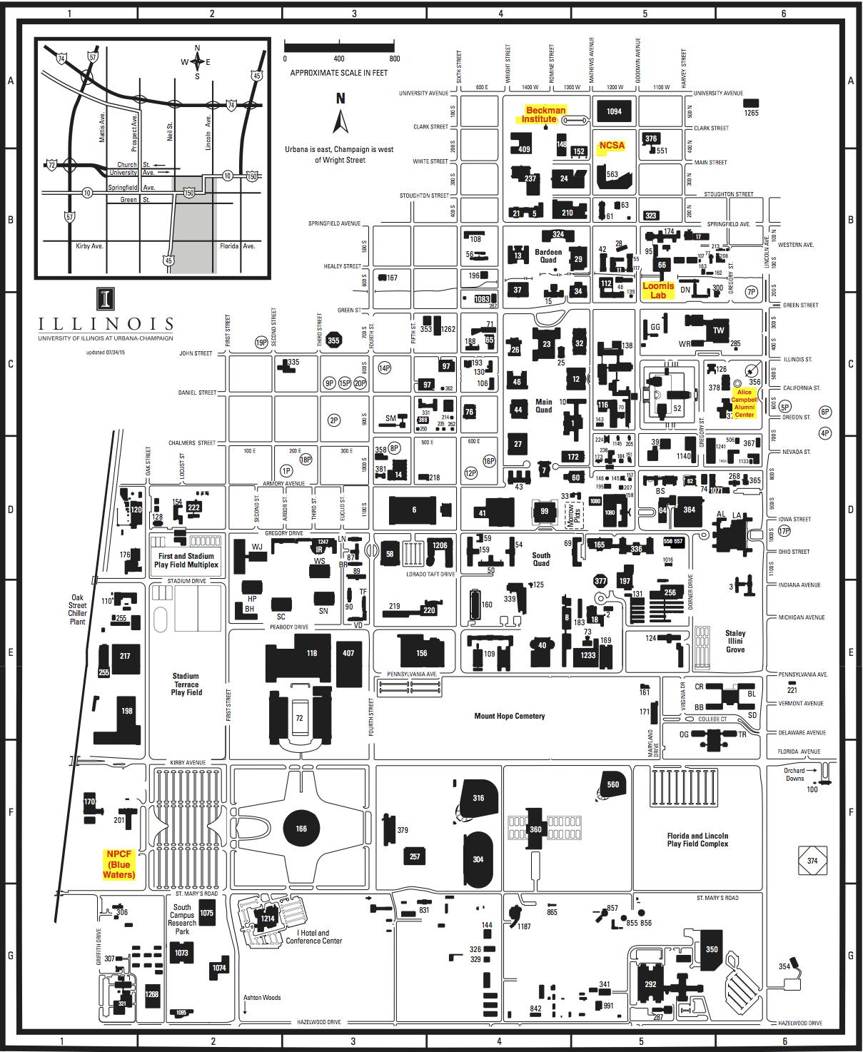 Campus Map Uiuc Uiuc Campus Map | States Maps