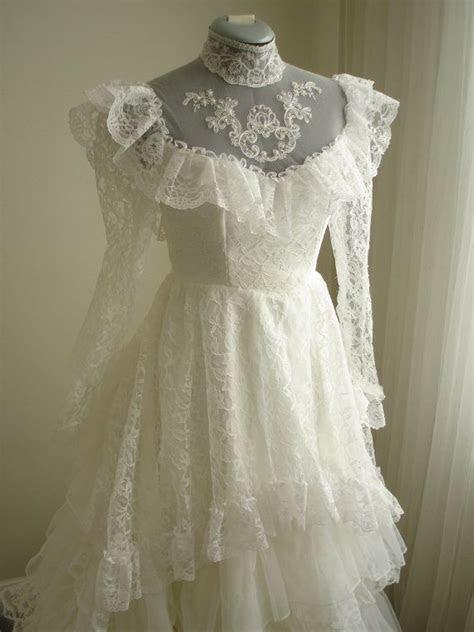 1980's Vintage Antebellum Southern Belle Wedding Dress