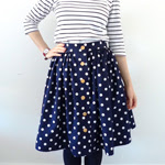 Polka Dot Picnic Blanket Skirt