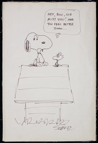 Snoopy And Woodstock Hey Bill We Miss You Hope You Feel Better Soon