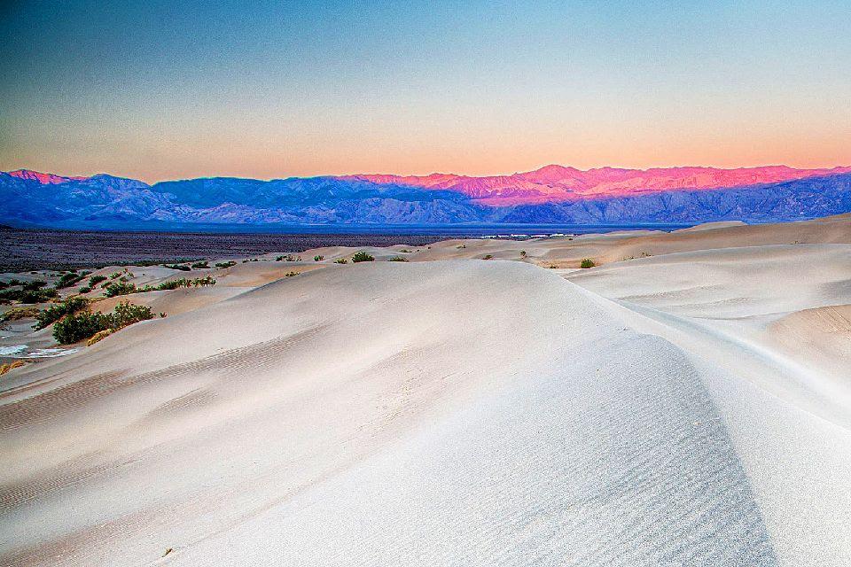 La Vallée de la mort , Au coucher du soleil , Etats-Unis