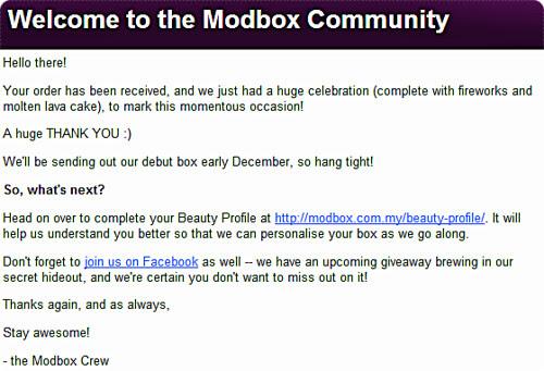 Modbox Beauty Box