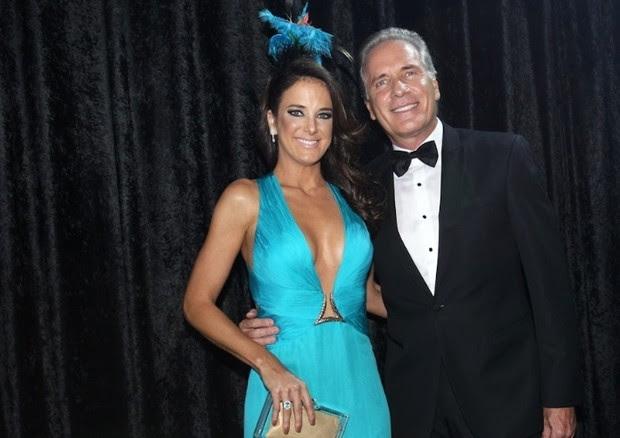 Ticiane Pinheiro e Roberto Justus no Baile da Vogue de 2013 (Foto: Divulgação)