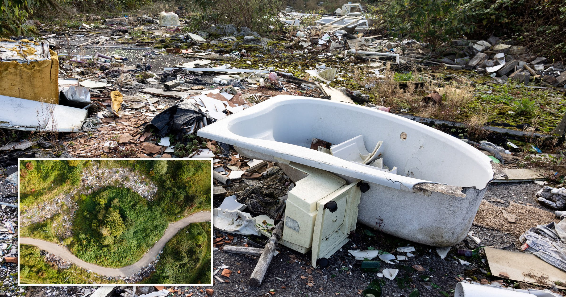 Britain's most fly-tipped road is finally going to be cleared