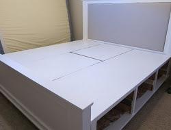 DIY King Size Bed - Assembled