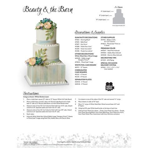 Beauty & the Barn Stacked Wedding   Cake Decorating