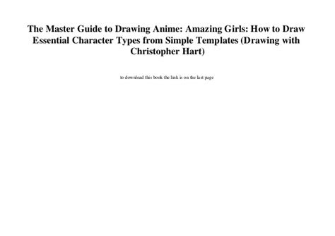 master guide  drawing anime amazing
