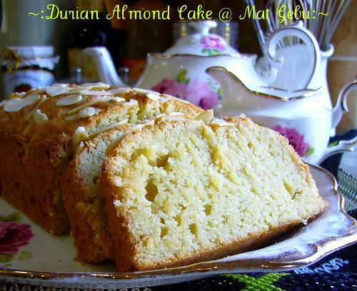 Durian Almond Cake