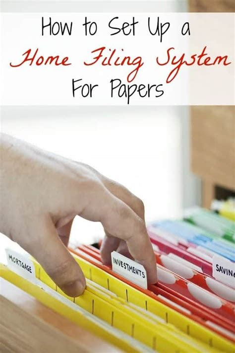 set   home filing system  papers