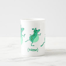 Cute Skipping Green Alien specialtymug