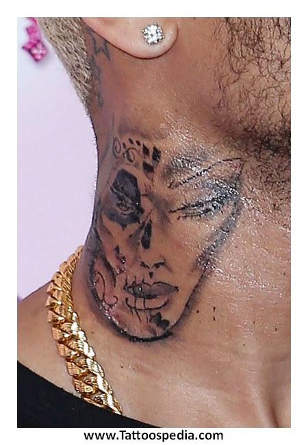 Lip Tattoo On Neck Meaning 8