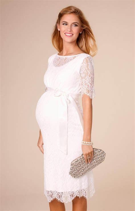 Starla Maternity Wedding Dress Short Ivory   Maternity