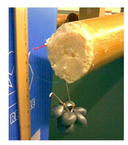 Figure 20. Third link test with foam-filled tube