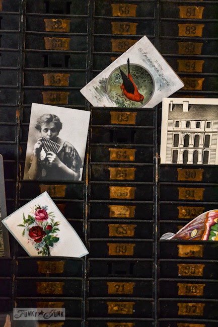 Karen - The Graphics Fairy's house - vintage display case