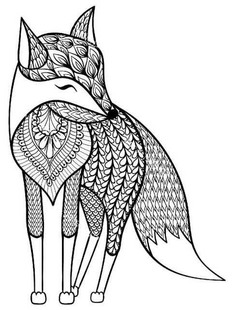 870 Top Coloring Pages Adults Animals Pictures