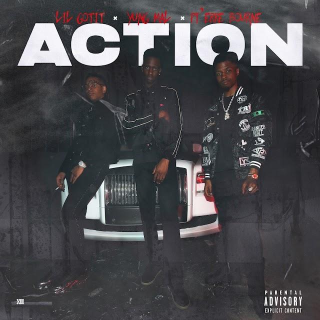 Yung Mal & Pi'erre Bourne - Action (feat. Lil Gotit) (Explicit) - Single [iTunes Plus AAC M4A]