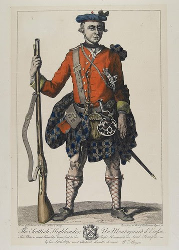 Black Watch - Scottish highlander soldier in kilt