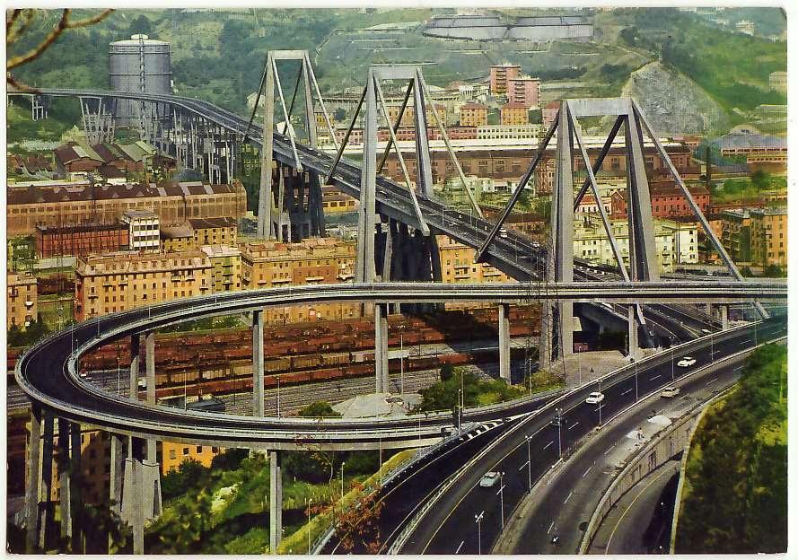 Viaducto de Polcevera sobre Génova, Foto de ebay.es