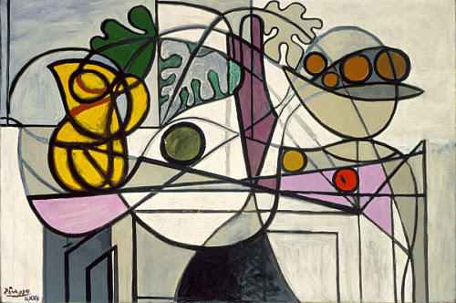 still life quick heart. Pablo Picasso Pitcher and Fruit Bowl 1930