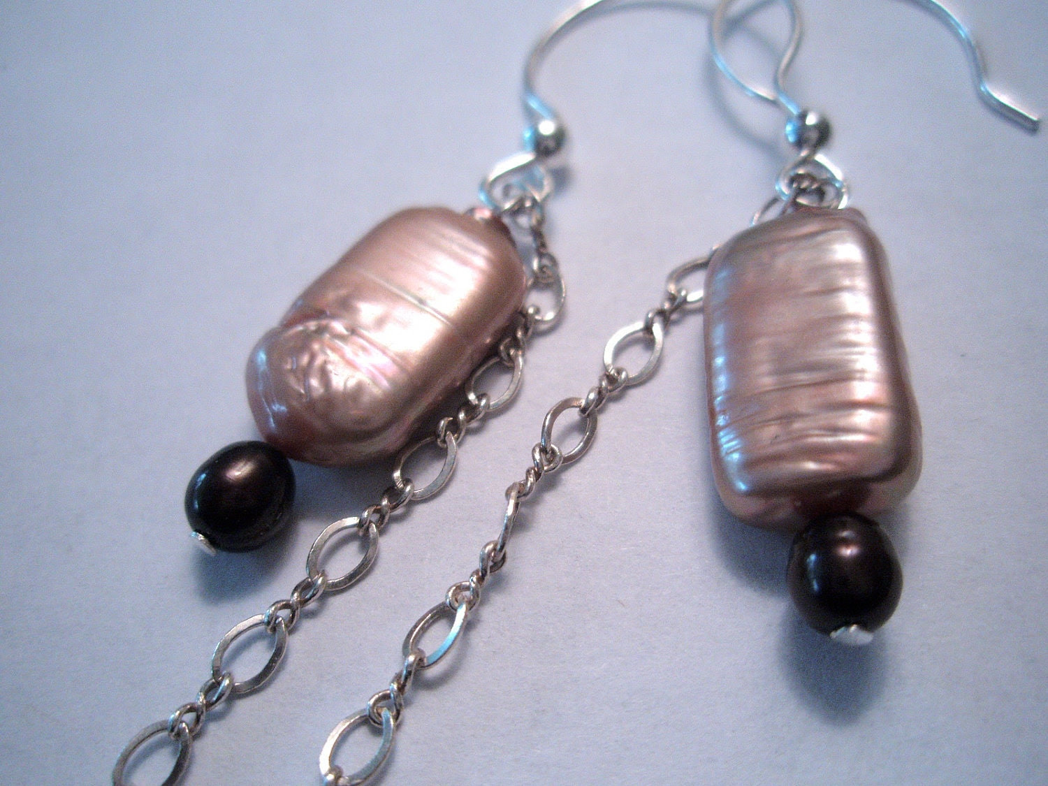 Pearl-y Victorious - Pearl and Chain Earrings