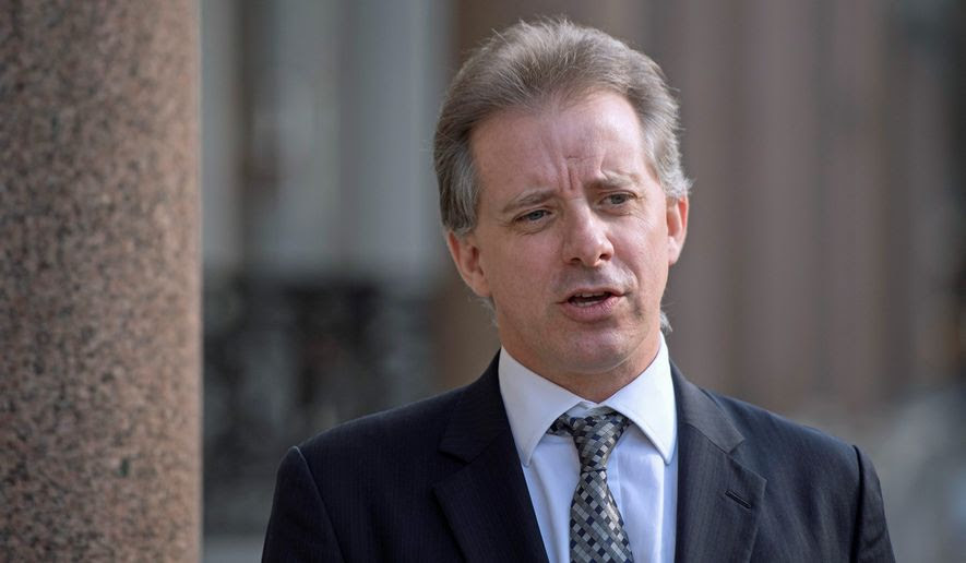 Christopher Steele says in a court filing that his accusations against the president and his aides about a supposed Russian hacking conspiracy were never supposed to be made public, much less posted in full on a website for the world to see on Jan. 10. (Associated Press/File)