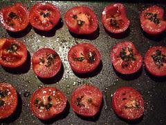 Tomaten voor het roosteren