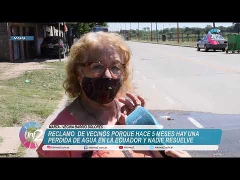 Reclamos de Vecinos: Hace 5 meses que tiene un caño roto de Aguas en Barrio Dolores