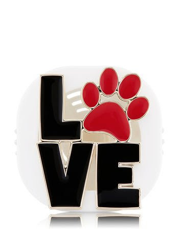 Love Paw Print Vent Clip Houder Cozy Favorites