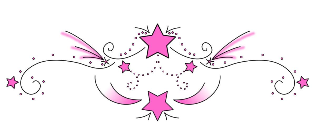 Pink Star Swirl Tattoo Sketch Tattoomagz