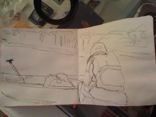 unfinished river sketch