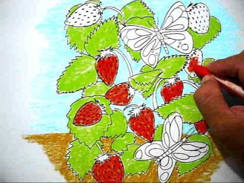 How To Color A Picture Of Strawbery Cara Mewarnai Gambar Strawbery